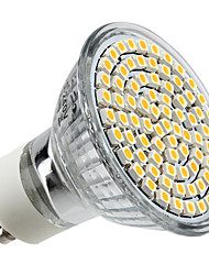 cheap -4 W LED Spotlight 350 lm GU10 MR16 80 LED Beads SMD 3528 Warm White 220-240 V