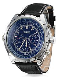 Недорогие -Муж. Нарядные часы Механические часы Авиационные часы С автоподзаводом Кожа Черный Календарь Аналоговый Роскошь - Белый Черный Синий