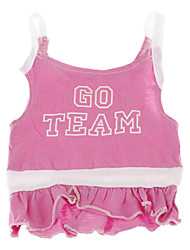 cheap -Dog Dress Dog Clothes Breathable Pink Costume Cotton Letter & Number XS S M