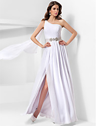 cheap -Ball Gown One Shoulder Floor Length Chiffon Formal Evening Dress with Sequin / Draping / Side Draping by TS Couture® / Split Front