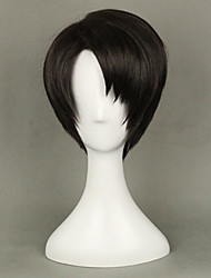 cheap -Attack on Titan Levy levi ackerman Cosplay Wigs Boys and Girls 14 inch Heat Resistant Fiber Anime Wig