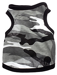 cheap -Dog Shirt / T-Shirt Dog Clothes Breathable Gray Costume Cotton Heart Camo / Camouflage XS S M L
