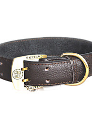 cheap -Dog Collar Adjustable / Retractable Genuine Leather