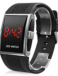 cheap -Men's Wrist Watch Digital Watch Digital Rubber Black Calendar / date / day LED Digital Charm - White Black
