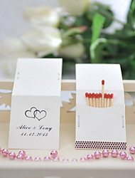 cheap -Personalized Matchbox Hard Card Paper / Mixed Material Wedding Decorations Wedding Party Classic Theme All Seasons