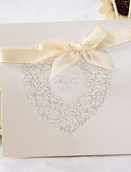 """cheap -Top Fold Wedding Invitations 50 - Invitation Cards Classic Style / Floral Style Pearl Paper 6""""×6"""" (15*15cm)"""