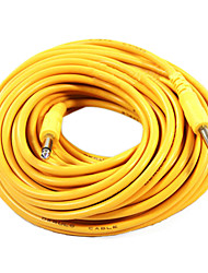 Недорогие -Derulo - Желтый гитарного кабеля нейлона с металлическим Подключите 20 метр