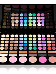 cheap -78 Colors Powders Blush Dry / Matte / Shimmer Face Matte / Shimmer / Glitter Shine Makeup Cosmetic