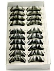 cheap -Eyelash Extensions False Eyelashes 20 pcs Volumized Natural Curly Fiber Daily Thick Natural Long Lengthens the End of the Eye - Makeup Daily Makeup Cosmetic Grooming Supplies