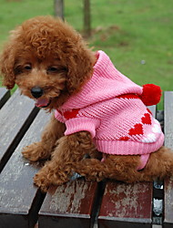 cheap -Cat Dog Sweater Hoodie Dog Clothes Heart Random Color Cotton Costume For Winter