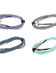 Недорогие -Нейлон гитарный кабель с металлической Прямая Угловая вилка в 5 метрах (случайный цвет)