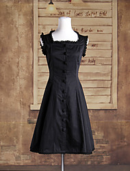 cheap -Classic Lolita Lolita Dress Women's Girls' Cotton Japanese Cosplay Costumes Solid Colored Sleeveless Medium Length