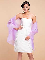 cheap -Wedding / Party/Evening Organza Shawls Sleeveless