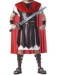 cheap -Roman Costumes Warrior Cosplay Costume Men's Halloween Carnival New Year Festival / Holiday Polyurethane Leather Men's Carnival Costumes / Cloak