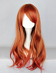 cheap -Cosplay Wigs Women's 26 inch Heat Resistant Fiber Orange Anime