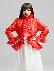 cheap -Wedding / Party/Evening / Casual Organza Coats/Jackets 3/4-Length Sleeve Wedding  Wraps