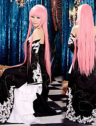 cheap -Inspired by Vocaloid Megurine Luka Video Game Cosplay Costumes Cosplay Suits / Dresses Patchwork Sleeveless Dress Sleeves Costumes / Satin