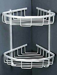 cheap -Space Aluminium Bathroom Double-deck Storage Shelves