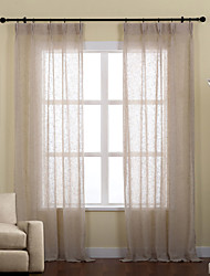 cheap -Ready Made Eco-friendly Sheer Curtains Shades Two Panels For Living Room