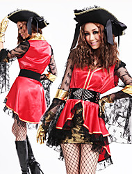 cheap -Pirate Princess Red and Black Organza Women's Costume