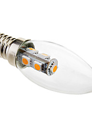 cheap -1pc 1 W LED Candle Lights 50-80 lm E14 C35 7 LED Beads SMD 5050 Christmas Wedding Decoration Warm White 220-240 V / # / RoHS