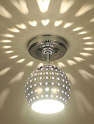 cheap -1-Light 15 cm Mini Style / LED Flush Mount Lights Metal Electroplated Modern Contemporary 110-120V / 220-240V