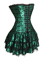 cheap -Women's Embroidery Gothic Lolita Bustiers Dress Corset Black Red Green Mini Lolita Accessories / Ruffle