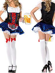 Недорогие -Октоберфест Широкая юбка в сборку Trachtenkleider Жен. Платье баварский Костюм