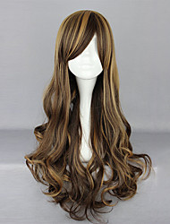 cheap -Zipper Chocolate Coffee 70cm Sweet Lolita Curly Wig