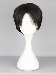 cheap -Attack on Titan Levy Cosplay Wigs Men's 10 inch Heat Resistant Fiber Anime Wig