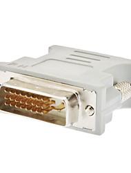 cheap -DVI 24+1 Male to VGA Female Adapter White