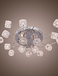 cheap -1-Light 90 cm (35 inch) Crystal / Bulb Included Flush Mount Lights Sputnik Electroplated Modern Contemporary 110-120V / 220-240V / G4