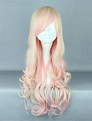 cheap -Strawberry Ice Cream Pink Gradient 70cm Sweet Lolita Curly Wig