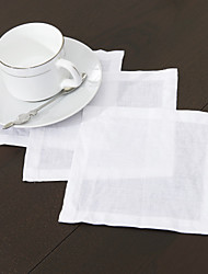 cheap -Linen Square Napkin Solid Colored Eco-friendly Table Decorations