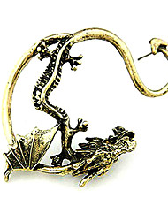cheap -Men's Ear Cuff Dragon Personalized European Fashion Earrings Jewelry Silver / Golden For Christmas Gifts Halloween Daily