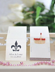 cheap -Personalized Matchbox Material / Hard Card Paper Wedding Decorations Wedding / Party Floral Theme / Wedding Spring / Summer / All Seasons
