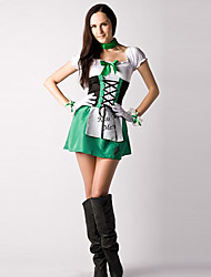 cheap -Kiss Me Green White and Black Cotton Dress Servant Costume (3 Pieces)