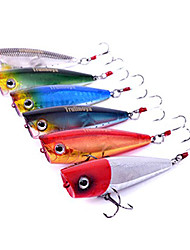 cheap -Hard Bait Popper Hard Bait Popper Bass Trout Pike Sea Fishing Freshwater Fishing Hard Plastic