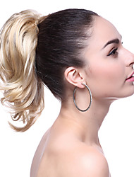 cheap -top grade synthetic short blonde wavy ponytail