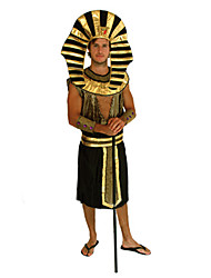cheap -Ethnic / Religious Egyptian Costume Cosplay Costume Men's Halloween Carnival New Year Festival / Holiday Polyester Men's Carnival Costumes / Hat