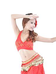 cheap -Belly Dance Tops Women's Training Cotton Crystals / Rhinestones Sleeveless Top