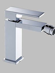 cheap -Bidet Faucet - Centerset Chrome Deck Mounted Single Handle One HoleBath Taps