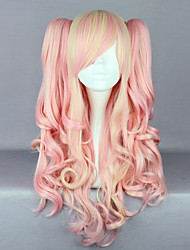 cheap -Cosplay Wigs Women's 28 inch Heat Resistant Fiber Pink Anime
