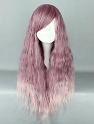 cheap -Cosplay Wigs Women's 28 inch Heat Resistant Fiber Pink+Purple Anime