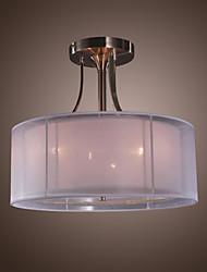 "cheap -QINGMING® 3-Light 40(16"") Mini Style Flush Mount Lights Glass Electroplated Modern Contemporary 110-120V / 220-240V / E12 / E14"