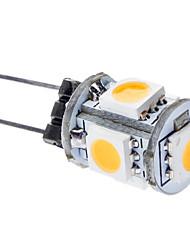 cheap -0.5 W LED Corn Lights 50-100 lm G4 T 5 LED Beads SMD 5050 Warm White 12 V / #