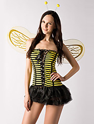 cheap -Cute Little Bee Yellow and Black Stripes Polyester Women's Costume (2 Pieces)