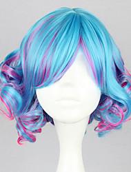 cheap -Cosplay Wigs Women's 14 inch Heat Resistant Fiber Navy Blue and Purple Anime / Punk Lolita Dress