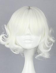 cheap -Cosplay Wigs Women's 30 inch Heat Resistant Fiber Silver Silver Anime
