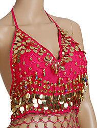 cheap -Belly Dance Tops Women's Training Chiffon Beading / Coin Sleeveless / Ballroom